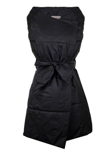 Vekem-Limited Edition Belden Bağlamalı Şişme Mont Siyah